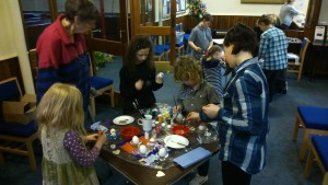 Painting eggs.......