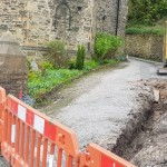 Drainage ditches for new pipes