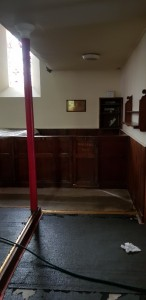 The warden's pew before removal